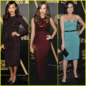 Ashley Madekwe &amp; Christa B. Allen: HFPA &amp; InStyle Golden Globes Celebration!