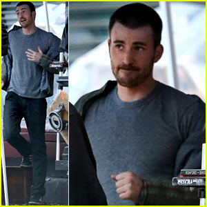 Chris Evans: 'A Many Splintered Thing' Set Hang Out!