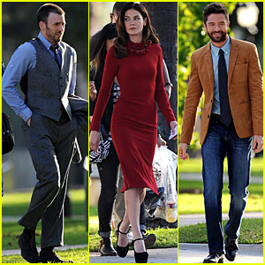 Chris Evans & Michelle Monaghan: 'A Many Splintered Thing' Set!