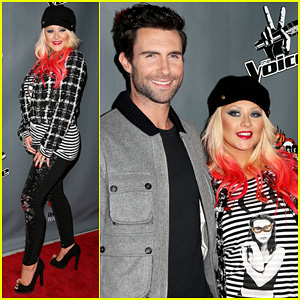 Christina Aguilera: 'The Voice' Final 12 Party with Adam Levine!