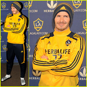 286c04ed26 David Beckham announces his departure from the Los Angeles Galaxy as a  player after the MLS Cup during a press conference on Tuesday (November 20)  at The ...