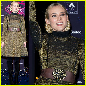 Diane Kruger: Champs-Elysees Christmas Lights Launch!