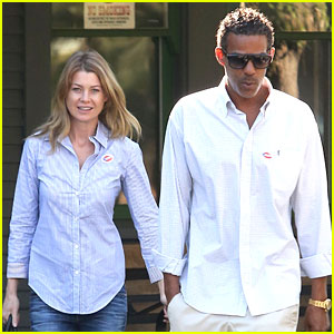 Ellen Pompeo: Election Day Voting with Chris Ivery!
