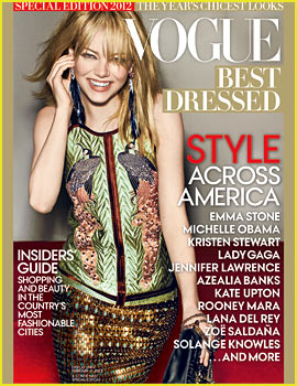 Emma Stone Covers 'Vogue' Magazine's Best Dressed Issue