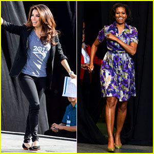 Eva Longoria & Michelle Obama Campaign for Barack Obama