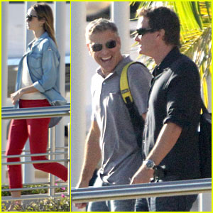 George Clooney & Stacy Keibler: Thanksgiving in Mexico!