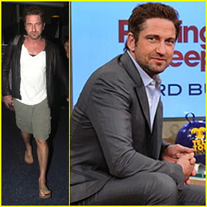 Gerard Butler: 'Despierta America' Appearance!