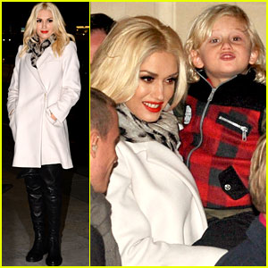 Gwen Stefani: Paris Departure with Zuma!