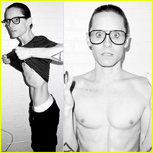 Jared Leto Reveals Weight Loss Shirtless for Terry Richardson