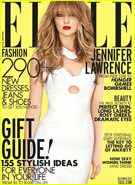 Jennifer Lawrence Covers 'Elle' December 2012