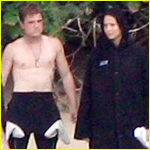 Jennifer Lawrence &#038; Shirtless Josh Hutcherson: 'Catching Fire' Sea Scenes!