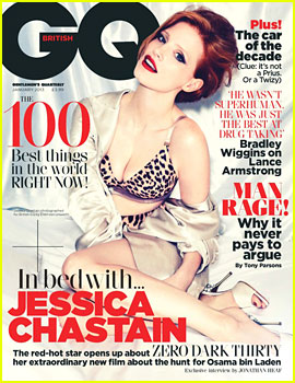 Jessica Chastain Covers 'British GQ' January 2013