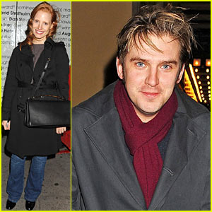 Jessica Chastain & Dan Stevens: 'Heiress' Stage Door Exit