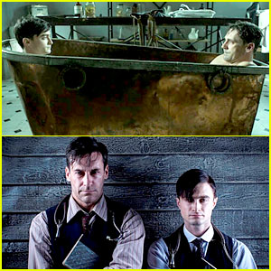 Jon Hamm Shares Bathtub with Daniel Radcliffe!