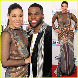 Jordin Sparks & Jason Derulo - AMAs 2012 Red Carpet
