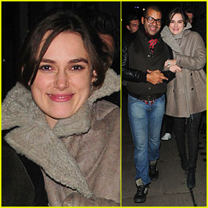 Keira Knightley: Groucho Club with James Righton!