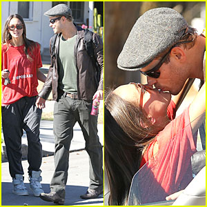 Kellan Lutz & Sharni Vinson: Goodbye Kissing Couple!