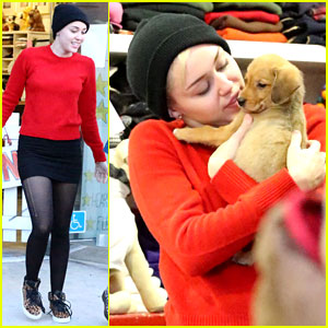 Miley Cyrus Introduces New Pup Penny Lane!