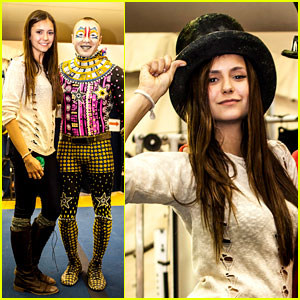 Nina Dobrev: 'Cirque du Soleil' Spectator!