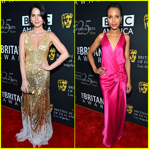 Olivia Munn & Kerry Washington: BAFTA Britannia Awards!