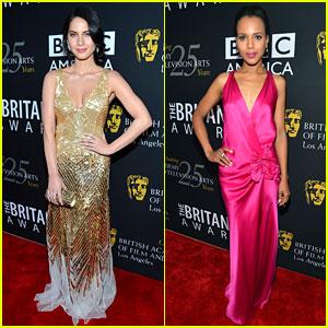 Olivia Munn & Kerry Washington: BAFTA Britannia Awards!