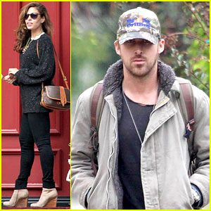 Ryan Gosling & Eva Mendes Visit Friends Separately