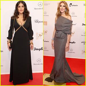 Salma Hayek & Celine Dion: Bambi Awards 2012!