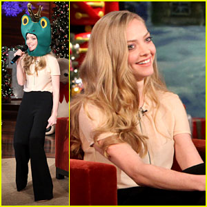 Amanda Seyfried Raps in a Frog Hat for Ellen DeGeneres