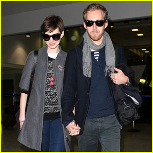 Anne Hathaway & Adam Shulman Hold Hands After Wardrobe Malfunction
