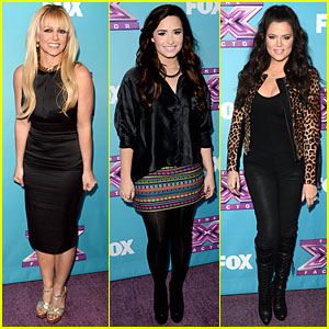 Britney Spears & Demi Lovato: 'X Factor' Season Finale News Conference!