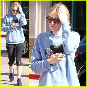 Dakota Fanning: Post-Christmas Workout!