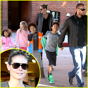 Heidi Klum &#038; Martin Kirsten: Lunch &#038; Groceries with the Kids!