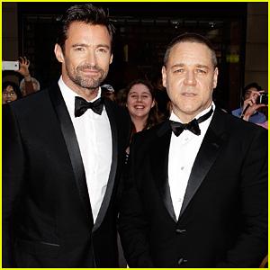 Hugh Jackman & Russell Crowe: 'Les Miserables' Australian Premiere!