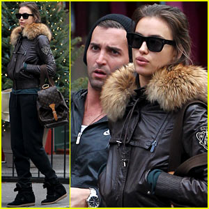 Irina Shayk: Big Apple Shopping with a Male Pal!