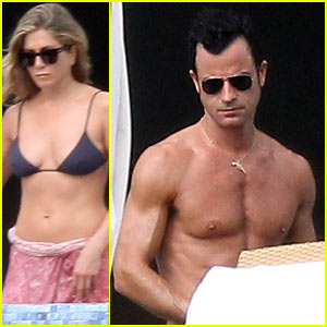 Jennifer Aniston: Bikini Tanning with Justin Theroux!