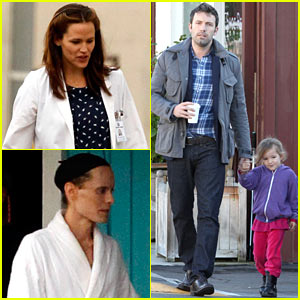 Jennifer Garner Wears Lab Coat on 'Buyers Club' Set