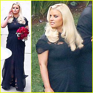 Jessica Simpson: Bridesmaid at CaCee Cobb's Wedding!