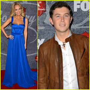 Kristin Chenoweth & Scotty McCreery - ACAs 2012 Red Carpet