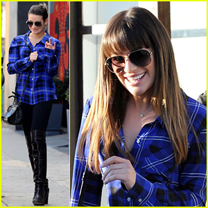 Lea Michele: Hair Salon with Mom Edith!