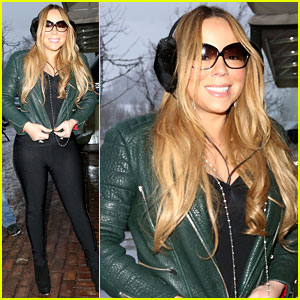 Mariah Carey: Giving Away Santa Hats to Lambs!
