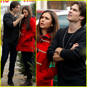 Nina Dobrev &#038; Ian Somerhalder: Christmas Tree Shopping!