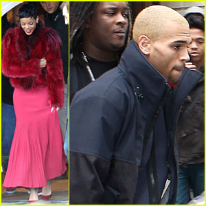 Rihanna & Chris Brown: Separate Paris Outings