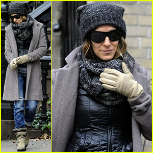 Sarah Jessica Parker: School Stop with Son James!