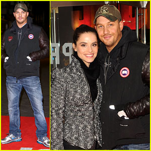 Tom Hardy: 'Jack Reacher' Premiere with Char