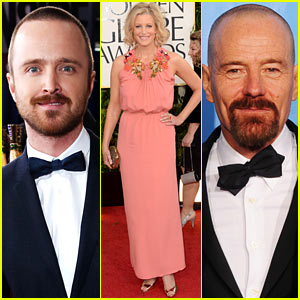 Bryan Cranston & Aaron Paul - Golden Globes 2013 Red Carpet