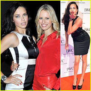 Adriana Lima &#038; Karolina Kurkova: IWC Schaffhausen Race Night Event!