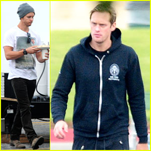 Alexander Skarsgard: 'True Blood' Set with Ryan Kwanten!