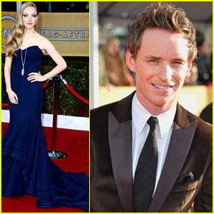 Amanda Seyfried & Eddie Redmayne - SAG Awards 2013 Red Carpet