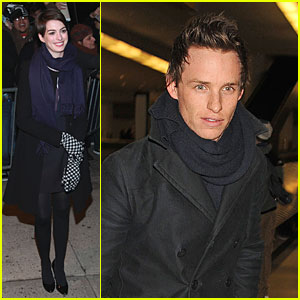 Anne Hathaway & Eddie Redmayne: Separate New York Outings!