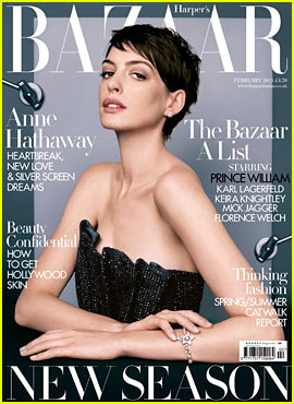 Anne Hathaway Covers 'Harper's Bazaar UK' February 2013